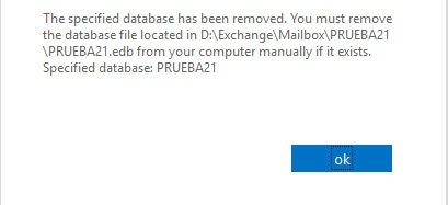 Exchange remove database warning delete files