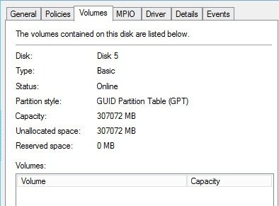 Disk partition style GPT