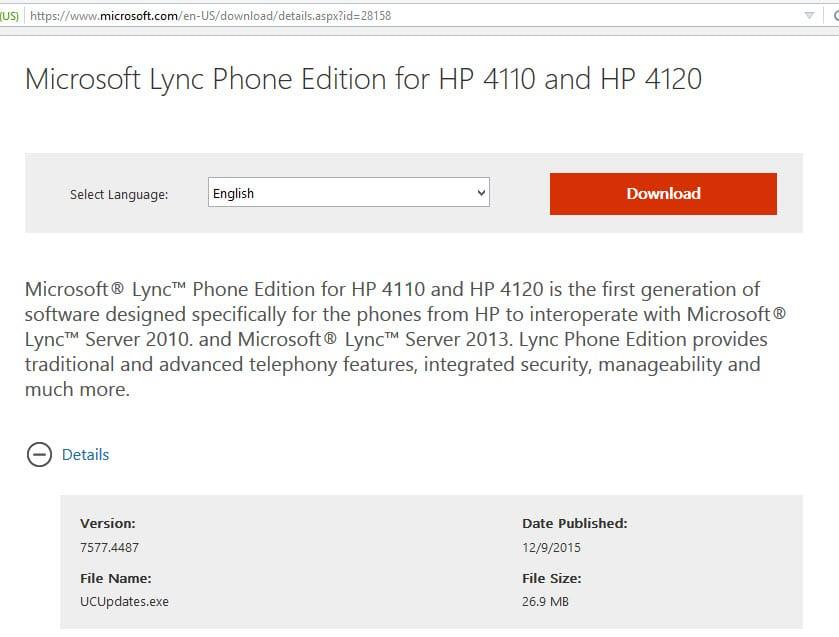 Lync - Update Lync Phone Edition devices - SomoIT net