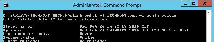 Ironport Automate Script Commands plink 2