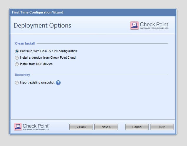 Checkpoint - Reinstall SMS using configuration backup 14