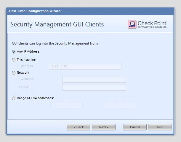 Checkpoint - Reinstall SMS using configuration backup 20
