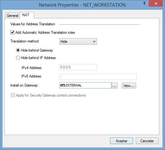 Configuring NAT in Checkpoint 2