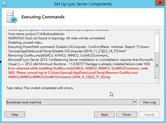 Error 1603 uninstalling Lync 2013