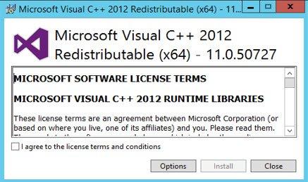 Installing C++ 2012 11.0.50727