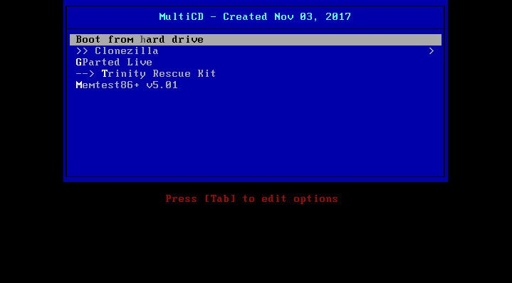 Linux – Create multiboot CD combining multiple ISO images