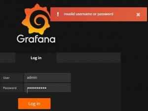 Invalid username or password when login to Grafana