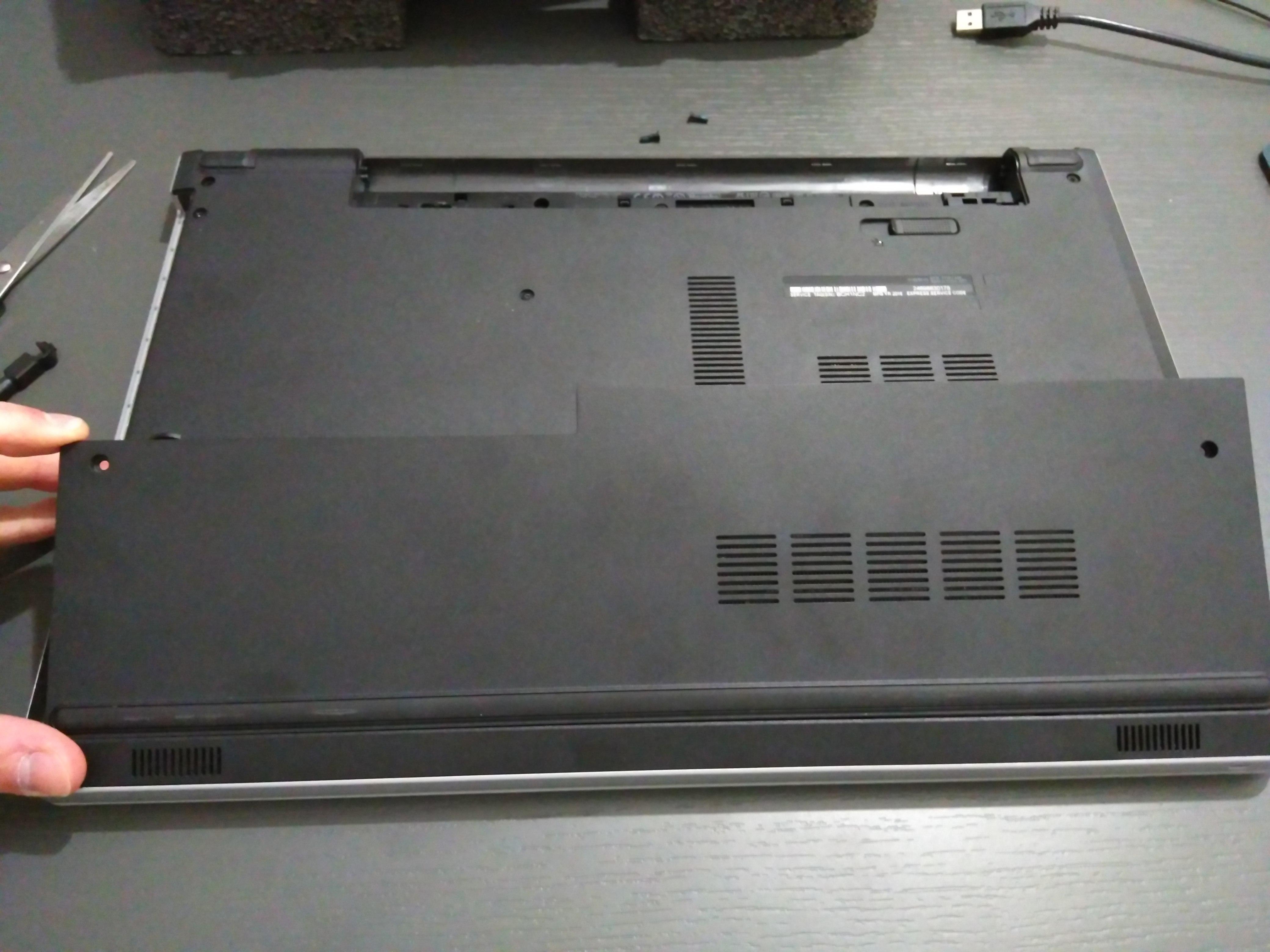 Opening laptop