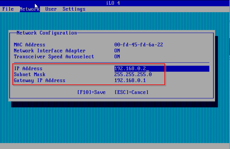 First steps configuring HP Microserver Gen8 - iLO set static IP
