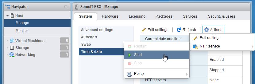 VMWare ESXi 6.5 installation