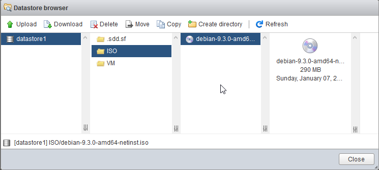 Install Linux Debian in VSX
