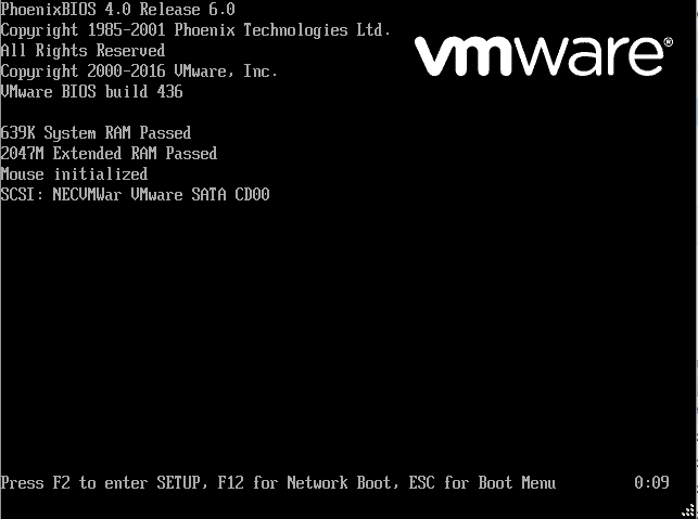 VMWare - Accessing VM boot menu - BIOS too fast