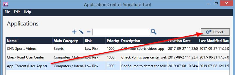 Checkpoint - Custom application signature ACST - SomoIT net