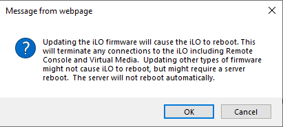 Home Server (8) - Update iLO4 firmware (HTML5 console